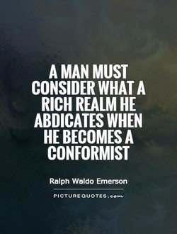 A MAN MUST 