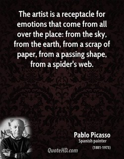 The artist is a receptacle for 
