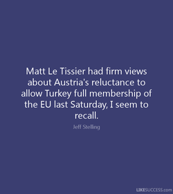 Matt Le Tissier had firm views 