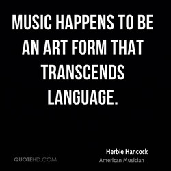 MUSIC HAPPENS TO BE 
