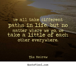 we all take2 different 