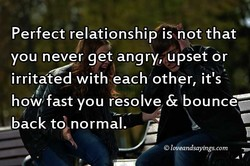 Perfect relationship is not that 