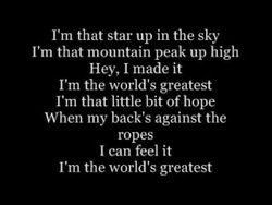 I'm that star up in the sky 
