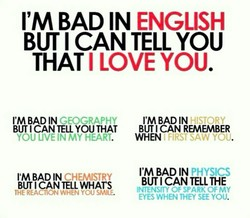 I'M BAD IN ENGLISH 