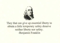 They that can give up essential liberty to 