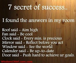 7 secret of success.. 