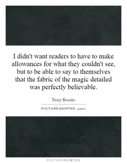 I didn't want readers to have to make 