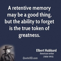A retentive memory 