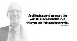 Architects spend an entire life with this unreasonable idea that you can fight against gravity. Renzc Riana