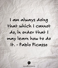 I always doing 