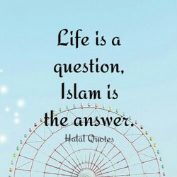 Life is a question, Islam is he n e