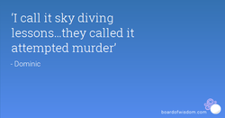 'I call it sky diving 