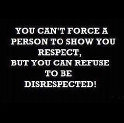 YOU CAN'T FORCE 