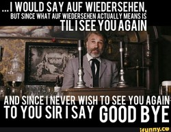 ...l WOULD SAY AUF WIEDERSEHEN, 