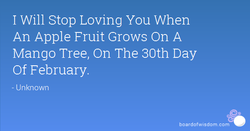 I Will Stop Loving You When 