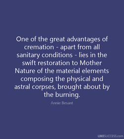 One of the great advantages of 