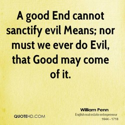 A good End cannot 