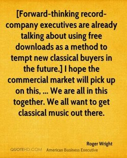 [Forward-thinking record- 