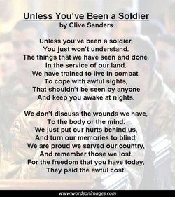 Unless You've Been a Soldier 