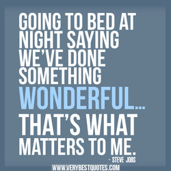 GOING TO BED AT 