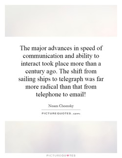 The major advances in speed of 