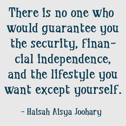 There is no one who 