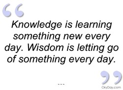 Knowledge is learning 
