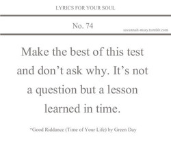 LYRICS FOR YOUR SOUL 