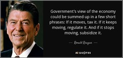 Government's view of the economy 