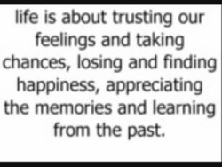 life is about trusting our 