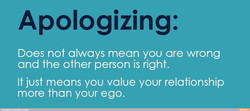 Apologizing: 
