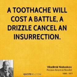 A TOOTHACHE WILL 