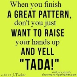 When you finish 