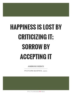 HAPPINESS IS LOST BY 