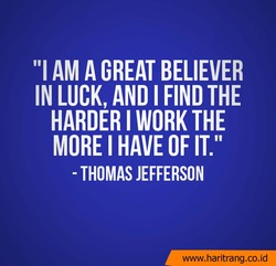 AM A GREAT BELIEVER 