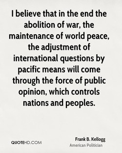 I believe that in the end the 