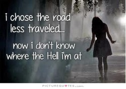 i chose the road 