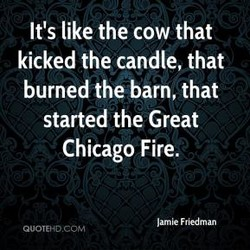 It's like the cow that