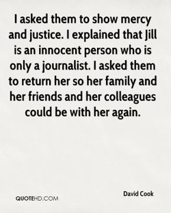 I asked them to show mercy 