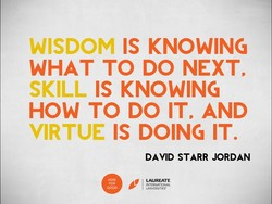 WISDOM IS KNOWING 