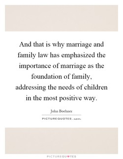 And that is why marriage and 