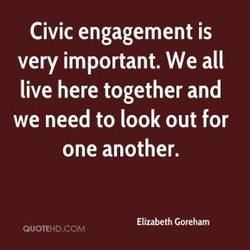 Civic engagement is 