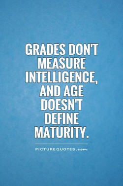 GRADES DON'T 