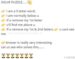 SOLVE PUZZLE.... 