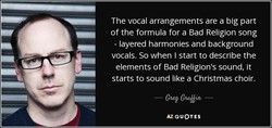 The vocal arrangements are a big part 