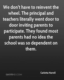 We don't have to reinvent the 