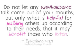 Do not let any unwholesome 