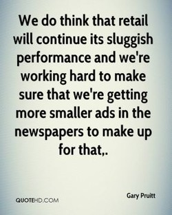 We do think that retail 