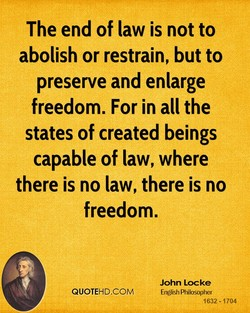 The end of law is not to 