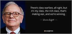 There's class warfare, all right, but 